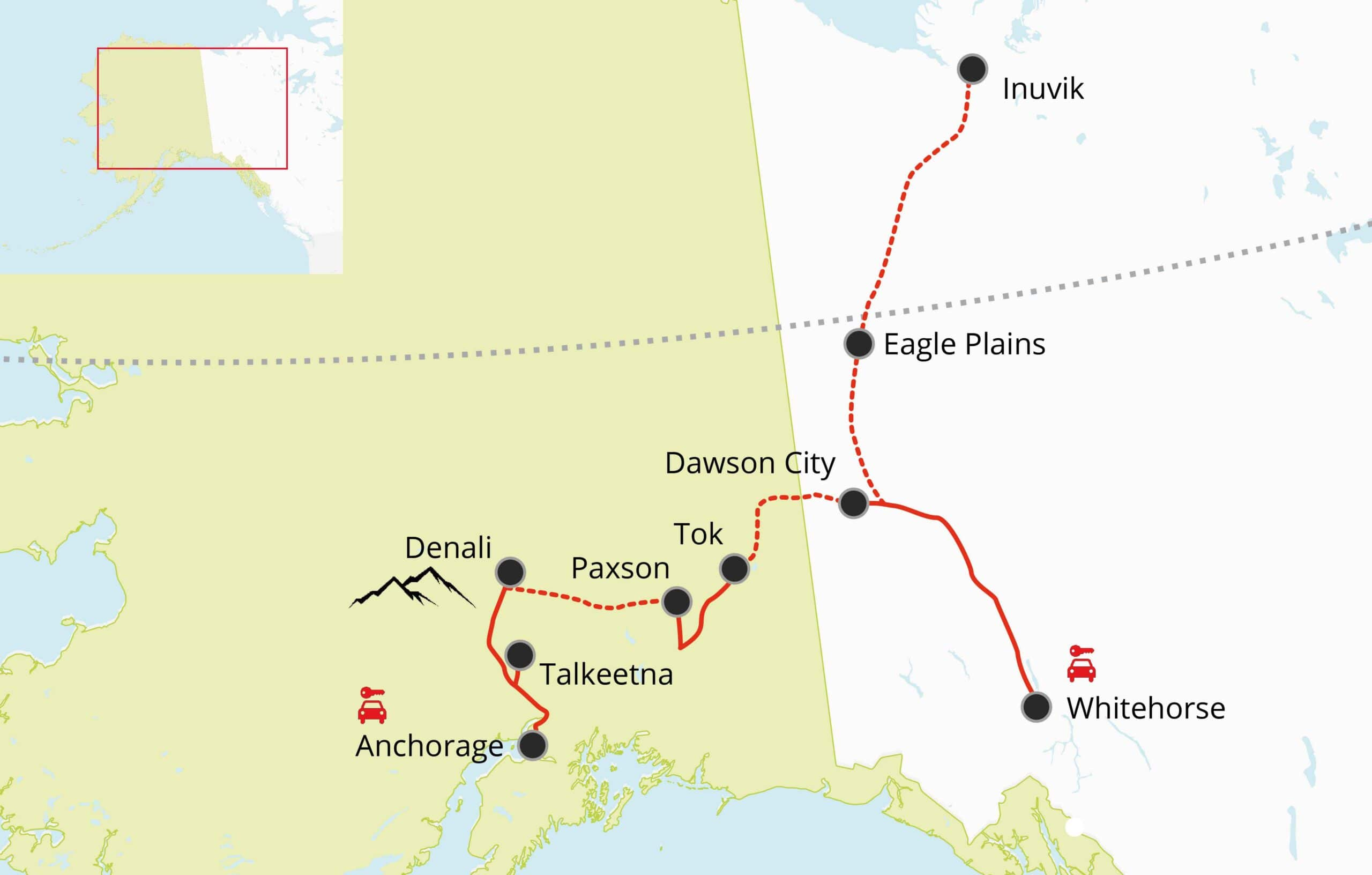 Most Scenic Roads In Alaska And Yukon Gonorth Alaska